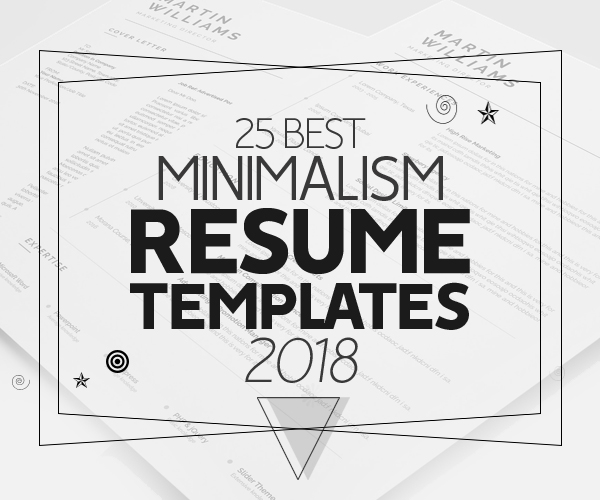 Best Minimalism Resume Templates 2018