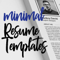 26 Clean and Minimal Resume Templates