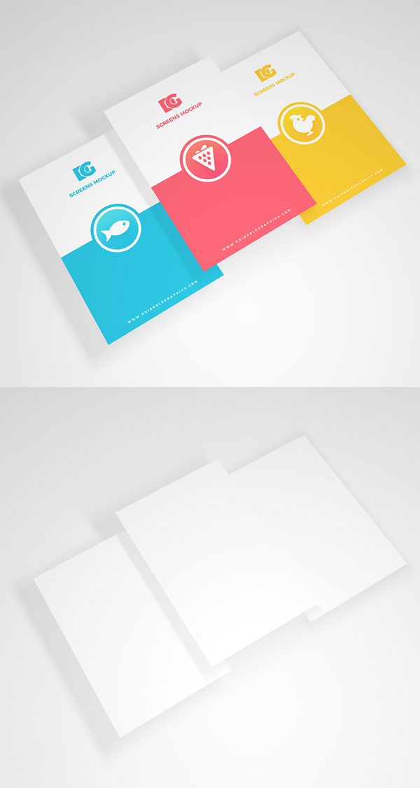 Free Screens Mockup PSD Template