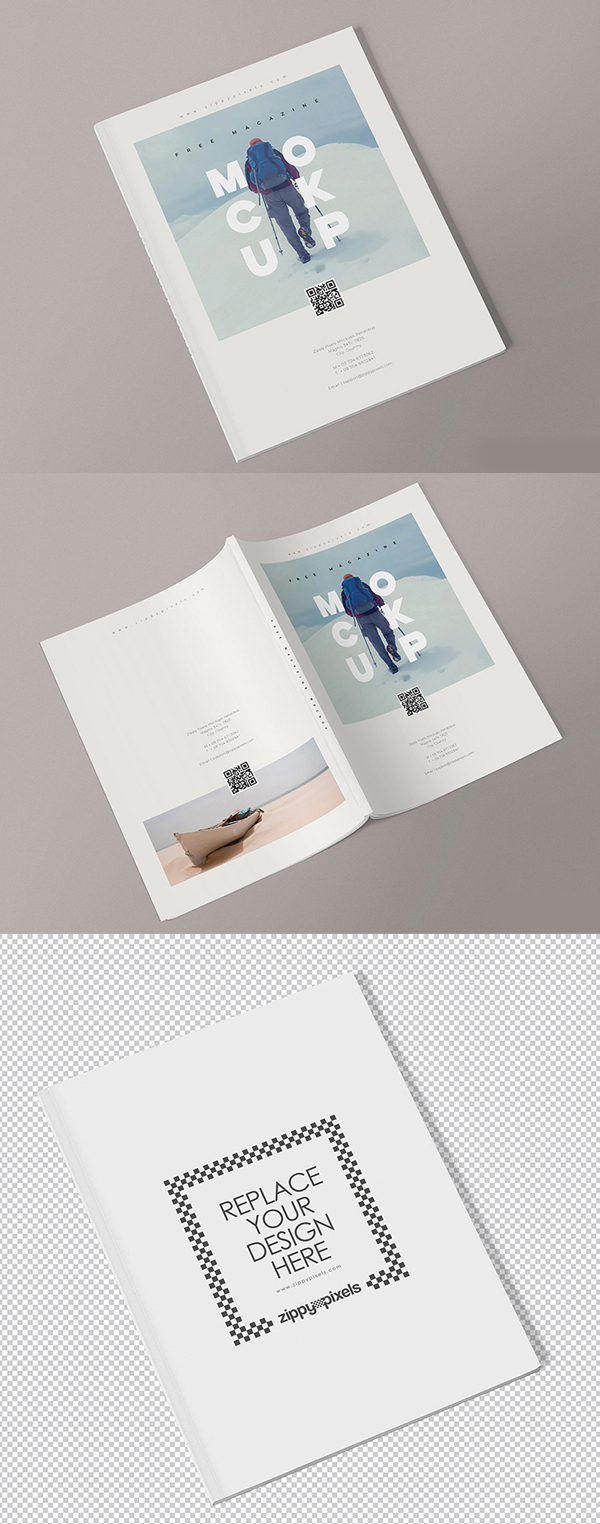 Magazine Mockup Templates Free Download PSD