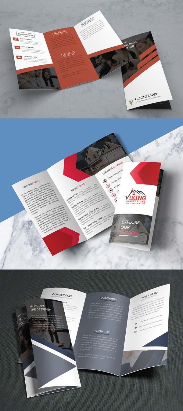 Free Corporate Tri Fold Brochure Template and Mockups
