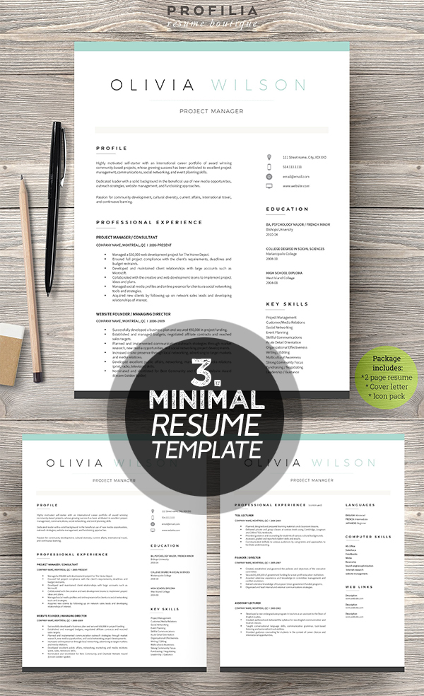 cover letter resume tamplate