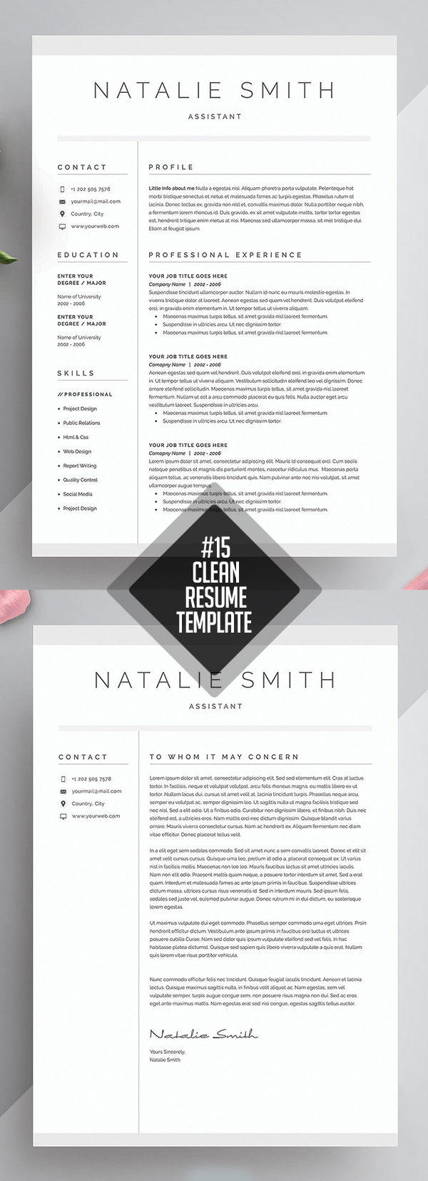 Creative Resume & Cover Letter Template