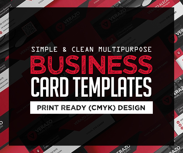 26 Clean Multipurpose Business Card Templates (Print Ready Design)