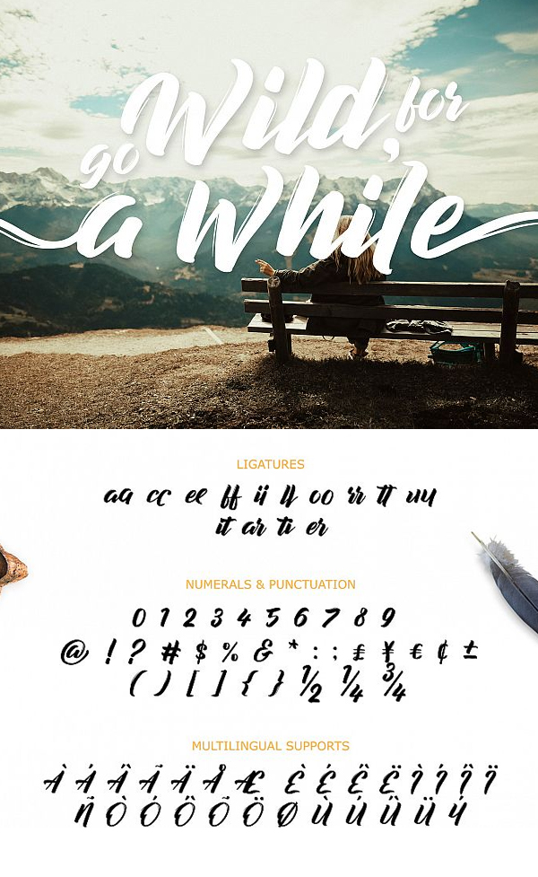 Decalled Script Font Letters