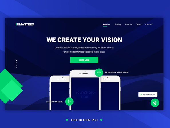 Free Website Hero Header PSD