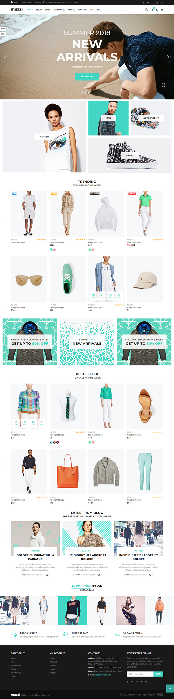 Muzzi - fashion store HTML template