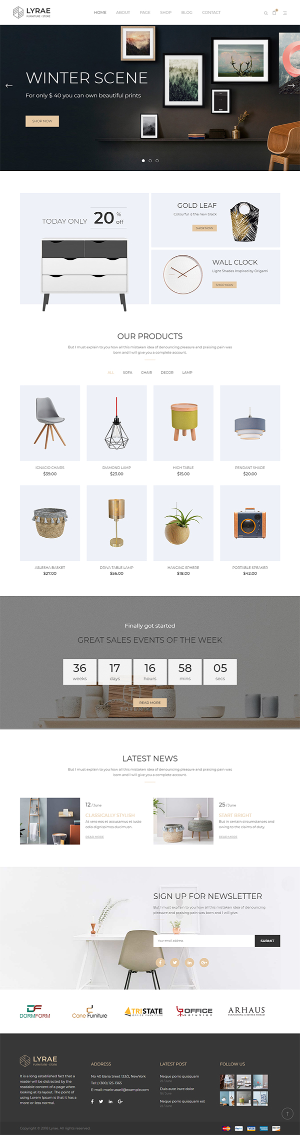 Lyrae | Furniture Store and Handmade Shop HTML5 Template