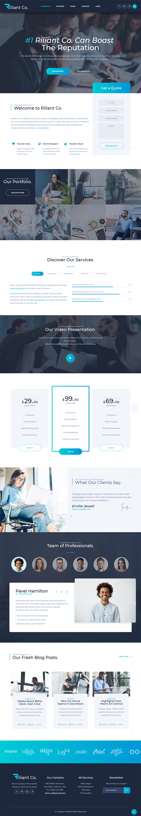 Riliant - Corporate Agency HTML Template