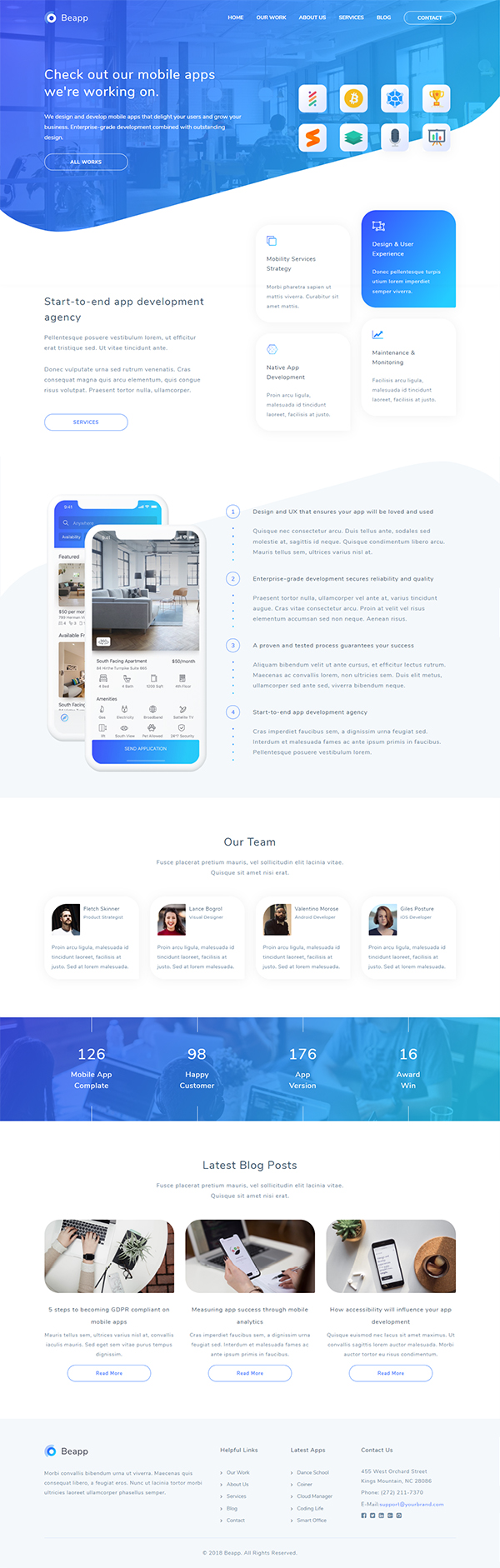 Beapp - Mobile App Development Agency HTML5 Template