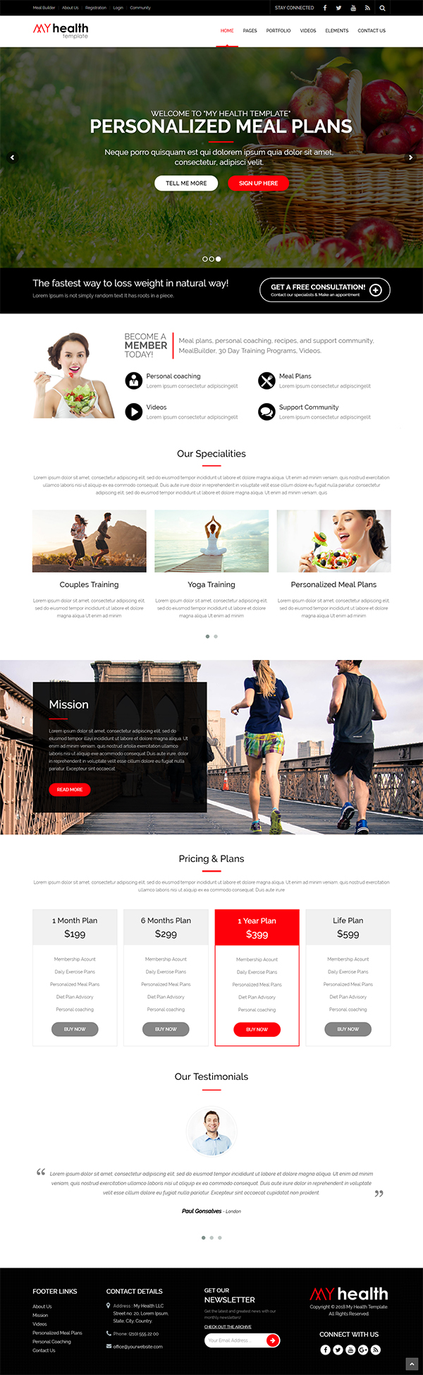 My Health - HTML5 Responsive Multi-Purpose Template