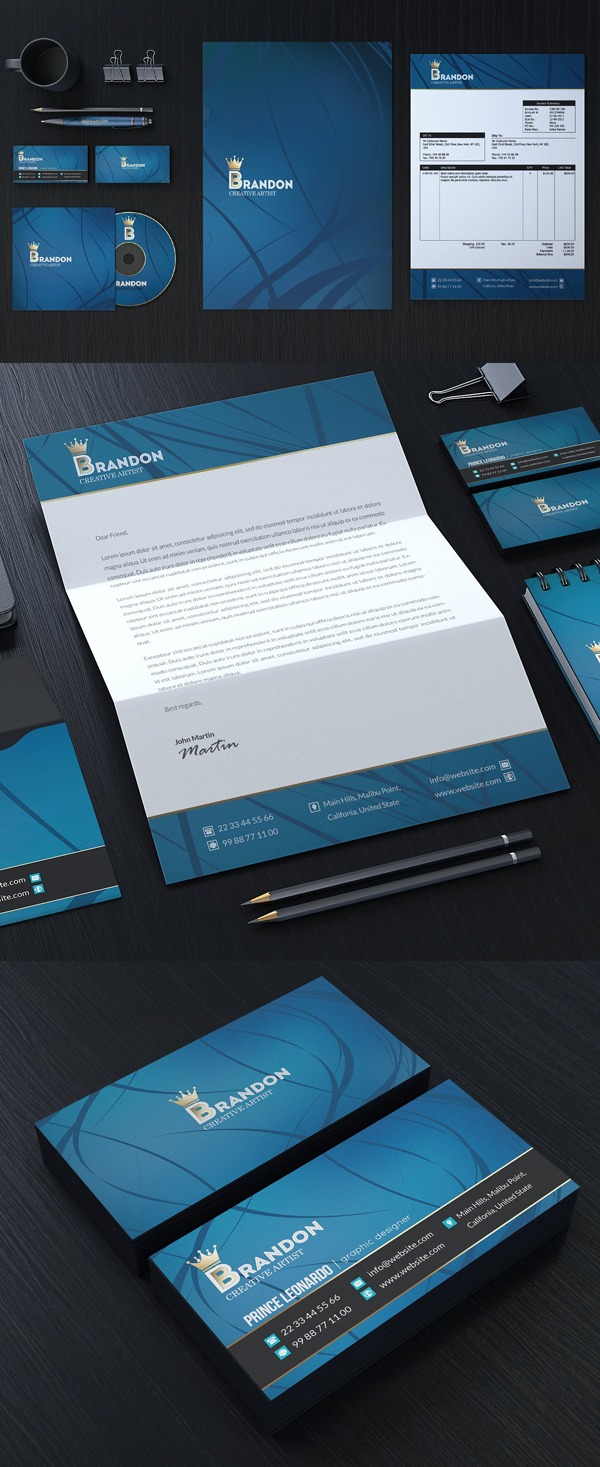 Modern Business Branding / Stationery Templates Design - 10