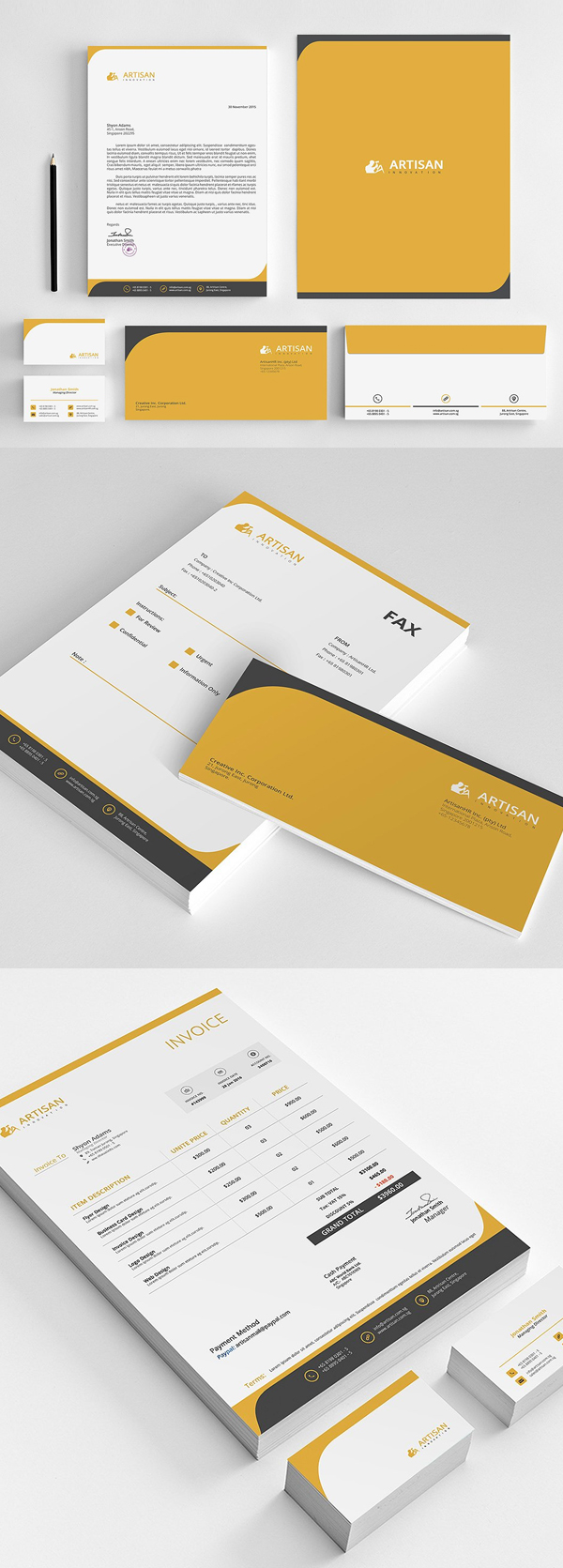modern business branding stationery templates design 15