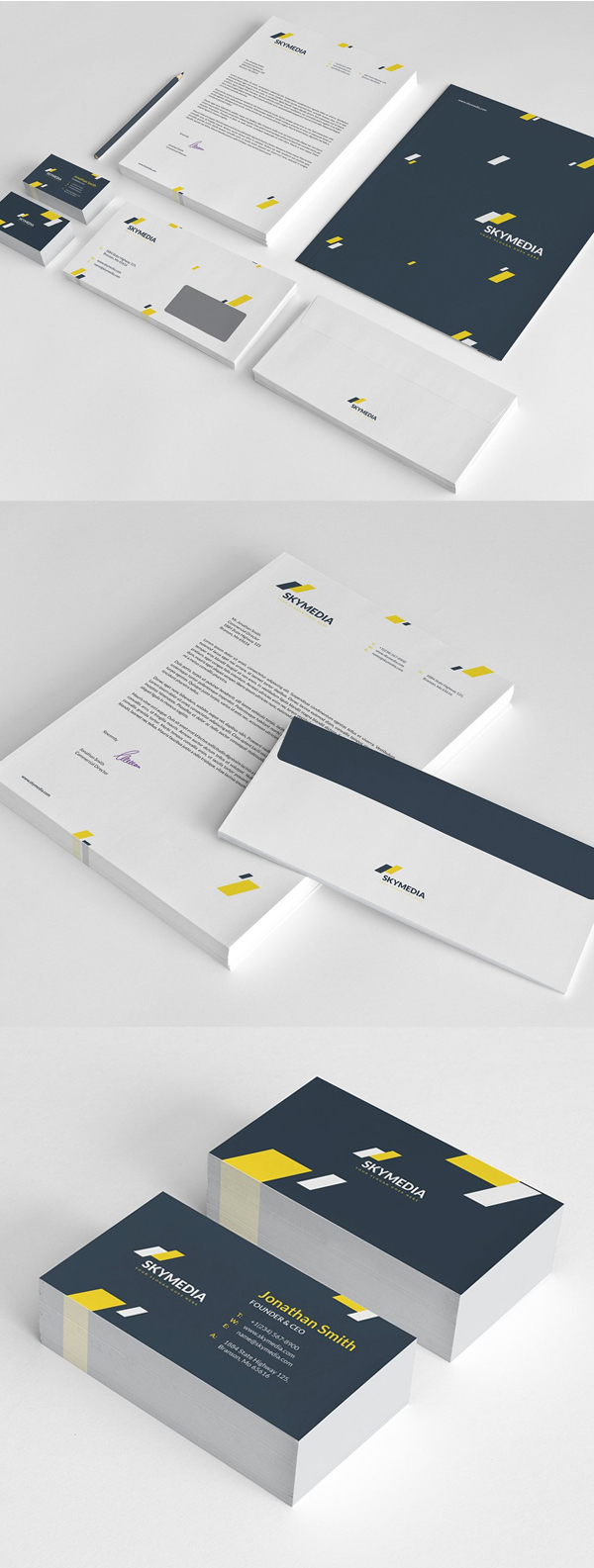 Modern Business Branding / Stationery Templates Design - 2