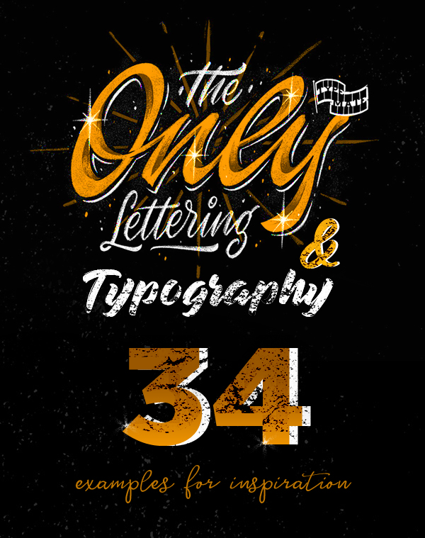 34 Remarkable Lettering and Typography Designs for Inspiration