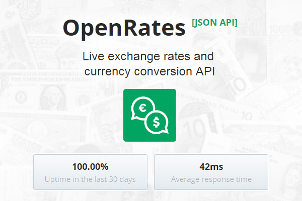 Openrates An Easy To Use Currency Conversion Api