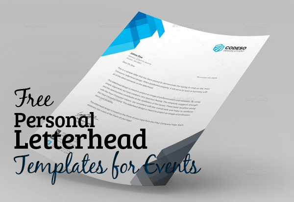 Free personal letterhead templates for events resources graphic 5 free personal letterhead templates for events spiritdancerdesigns Image collections