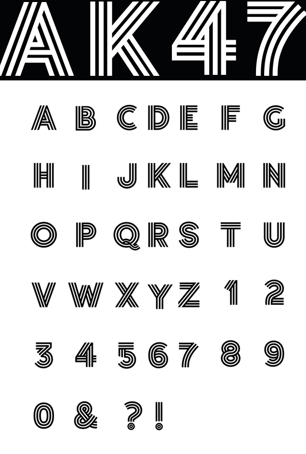 The Social Font Letters