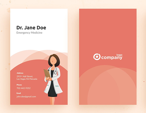 Hibiscus Business Card Template
