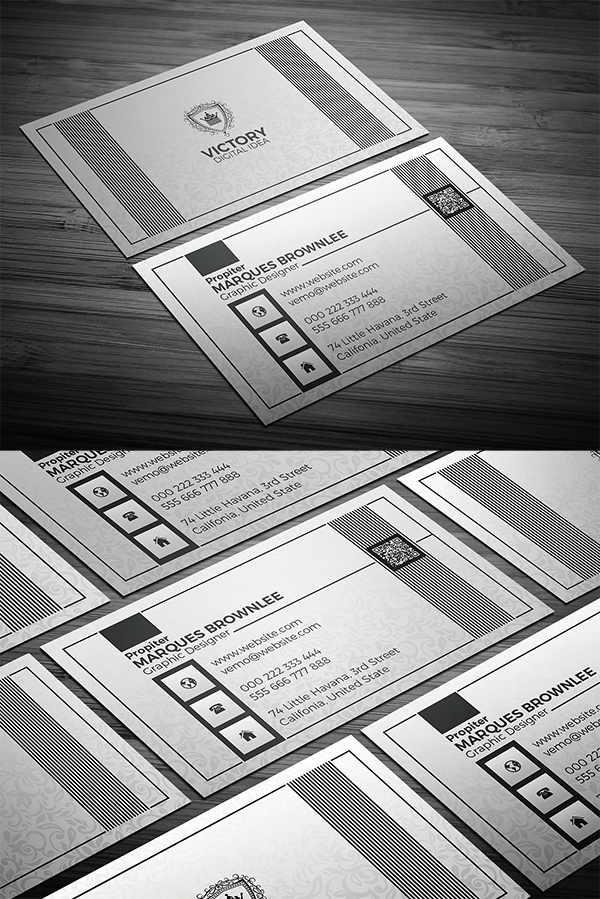 Silveriouly Elegant Business Card Template