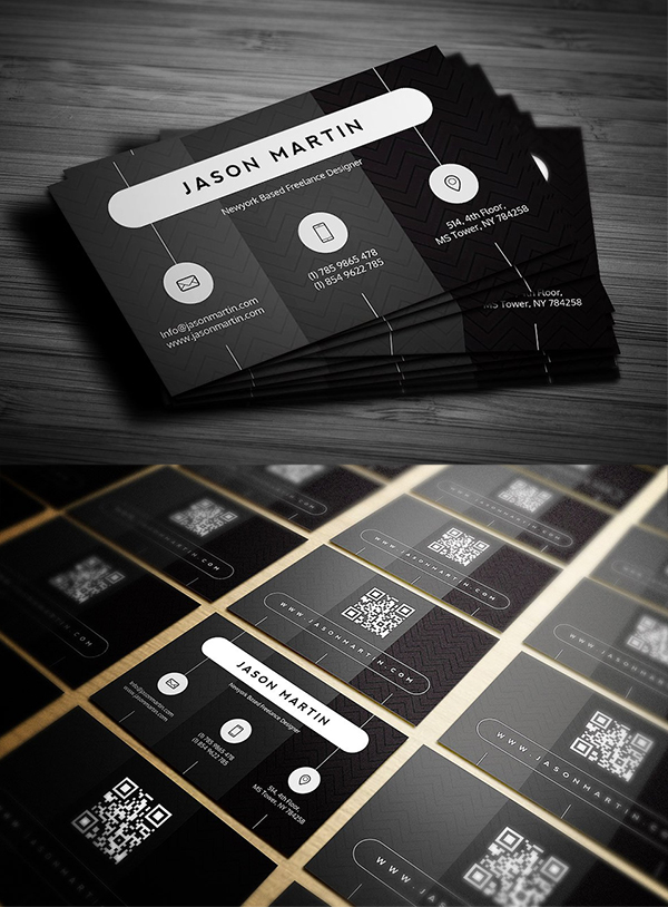 Creative Dark Business Card Template