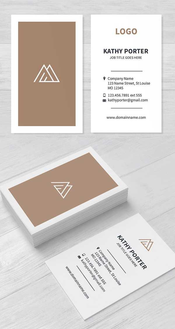 Light Clean Business Card