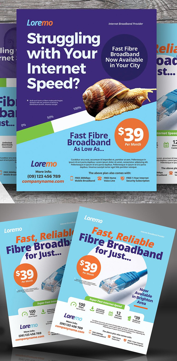 Internet Broadband Flyer Templates