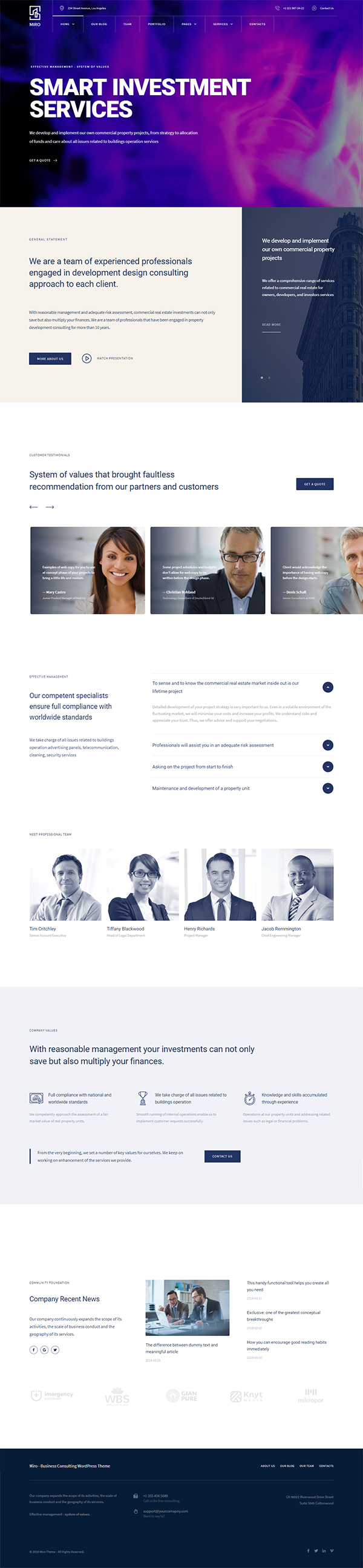 Miro - Business Consulting WordPress Theme