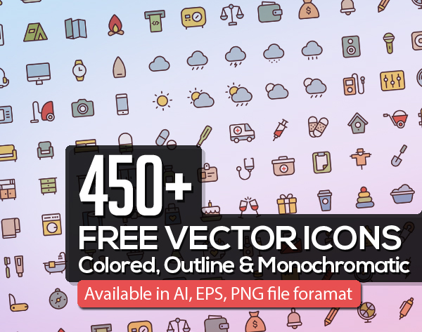 Free Vector Icons 450+ Icons