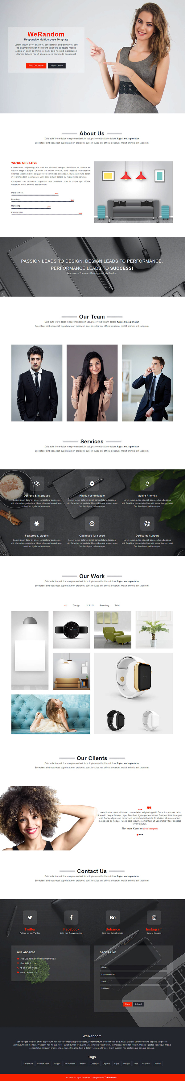 Free Multipurpose HTML5 Web Template