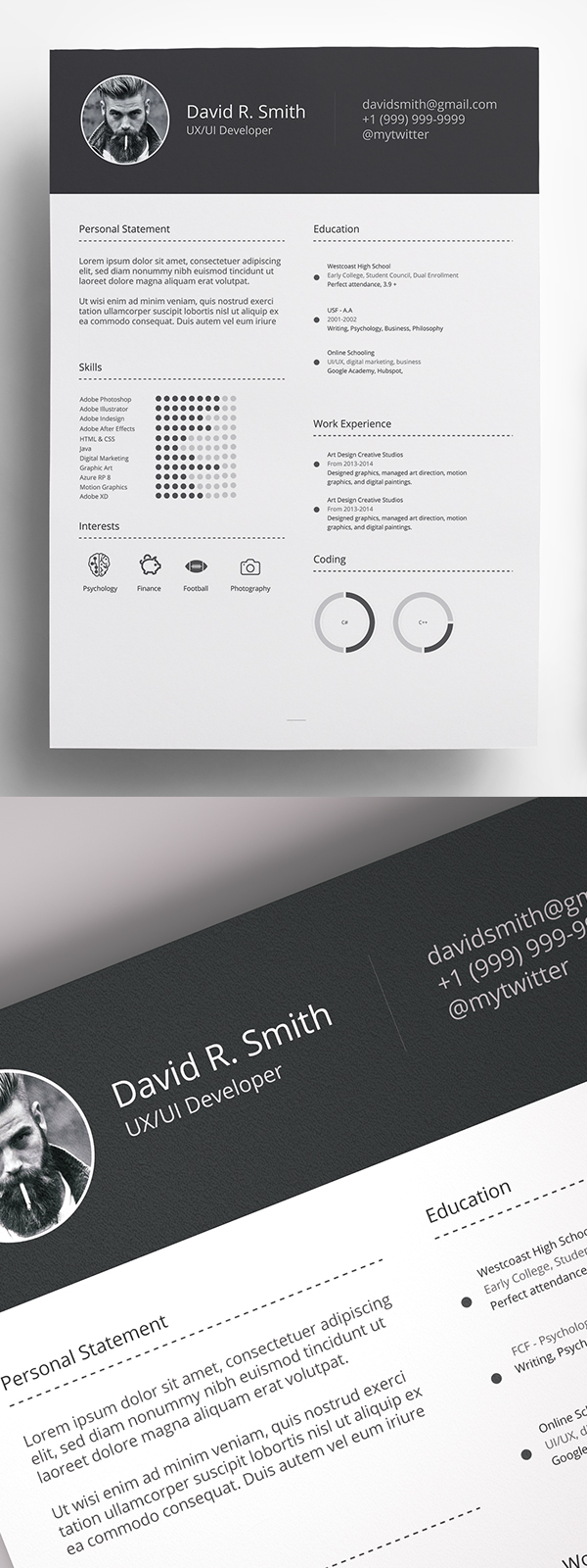 Free Resume Template Download CV