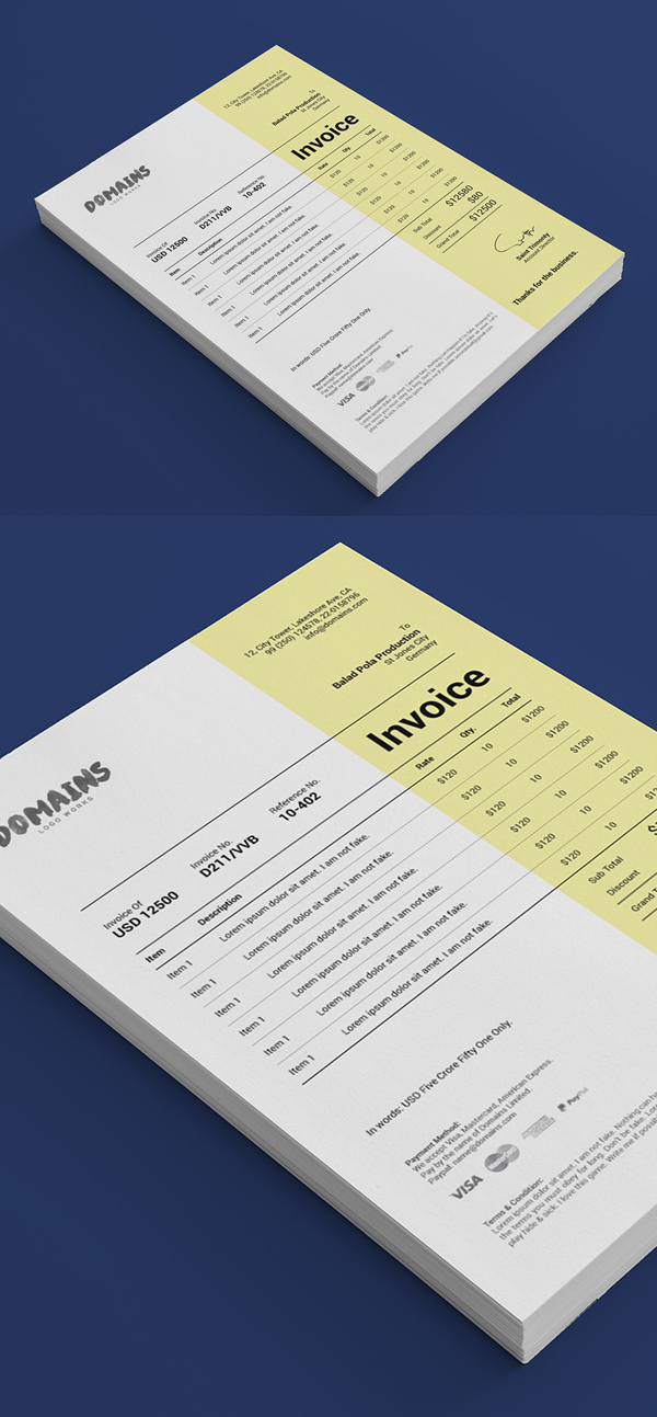 Best Free Invoice Templates For Graphic Designers
