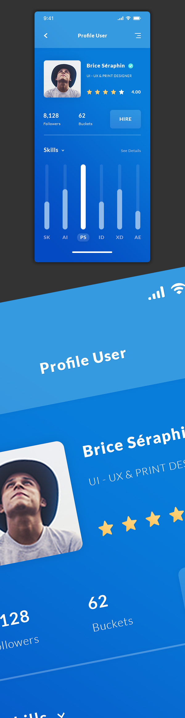 Free Profile User & Dashboard - App UI / UX
