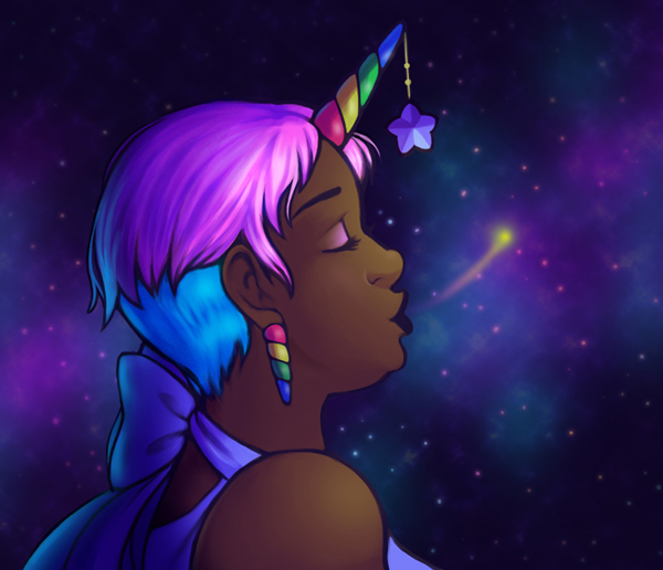 How to Draw & Paint a Starry Unicorn Portrait in Adobe Photoshop