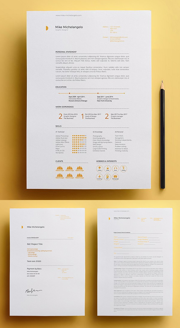 Resume Template Pack | Michelangelo