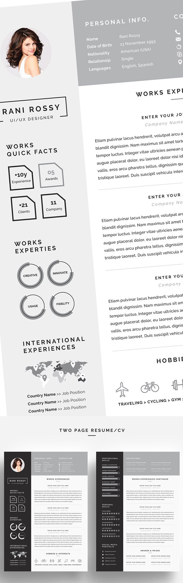 Word Infographic CV