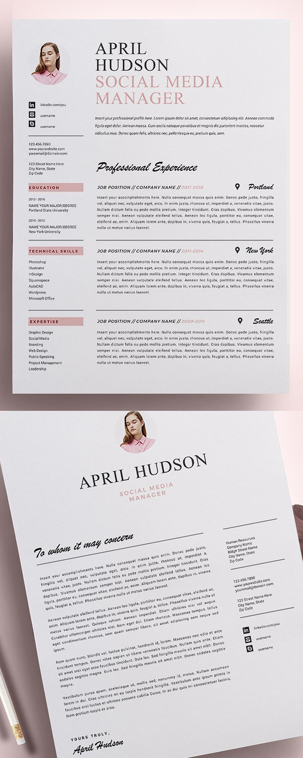 Best Resume Templates Cv Resume  Design  Graphic Design Junction