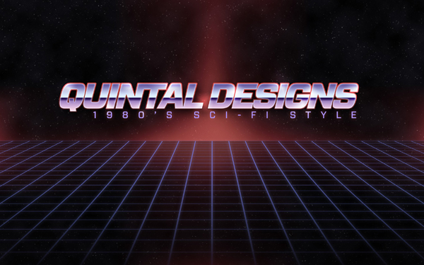 Retro 80's Sci-Fi logo in Photoshop