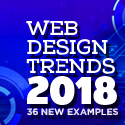 Post thumbnail of Web Design Trends 2018 – 36 New Examples
