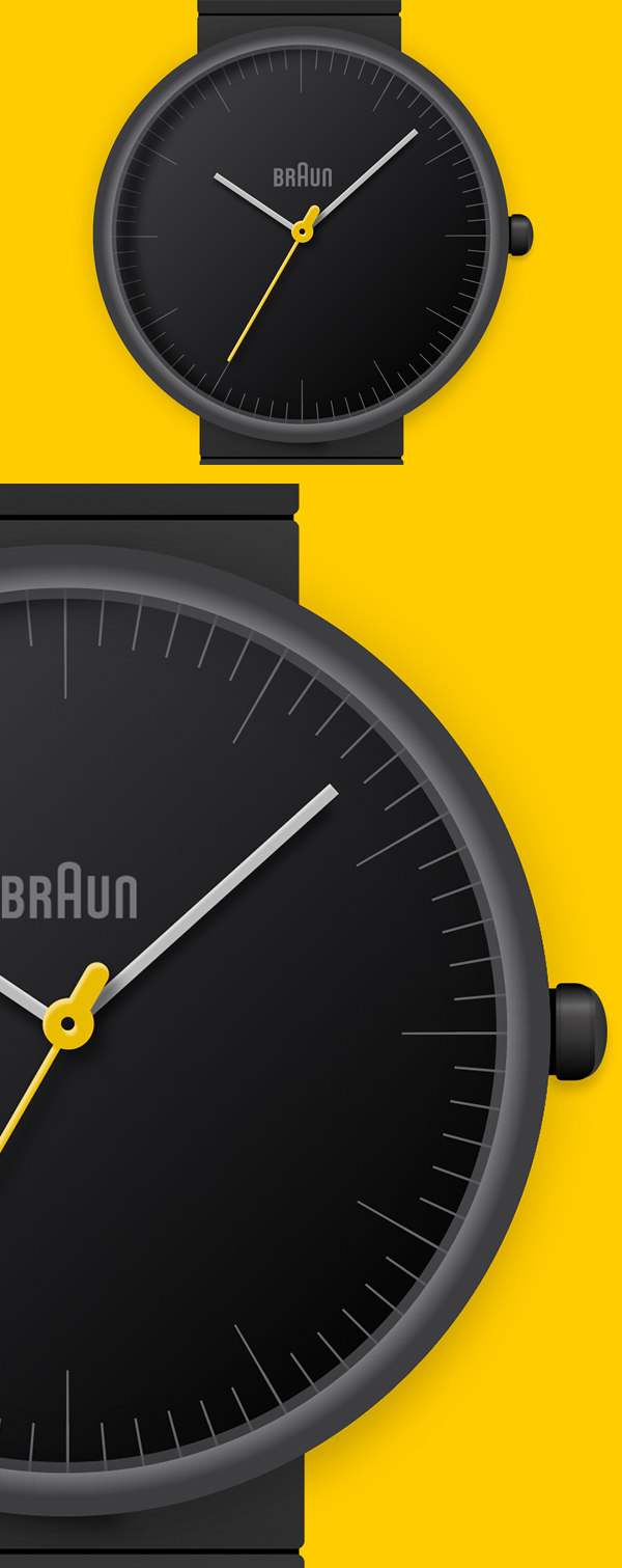 Braun Watch Free Vector Graphics