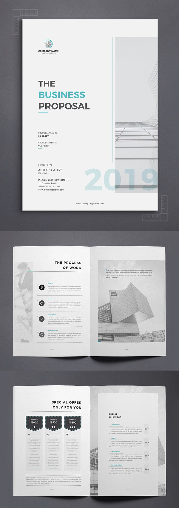 Professional Proposal Template | Business Proposal Templates Design Graphic Design Junction