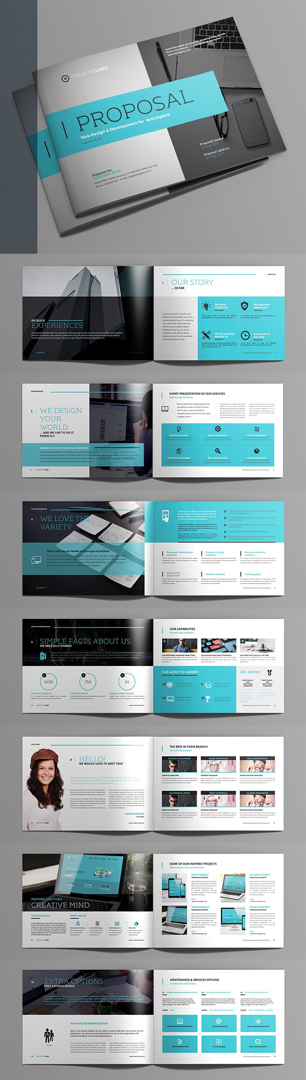 Business proposal templates design graphic design junction professional business proposal templates design 11 wajeb Images
