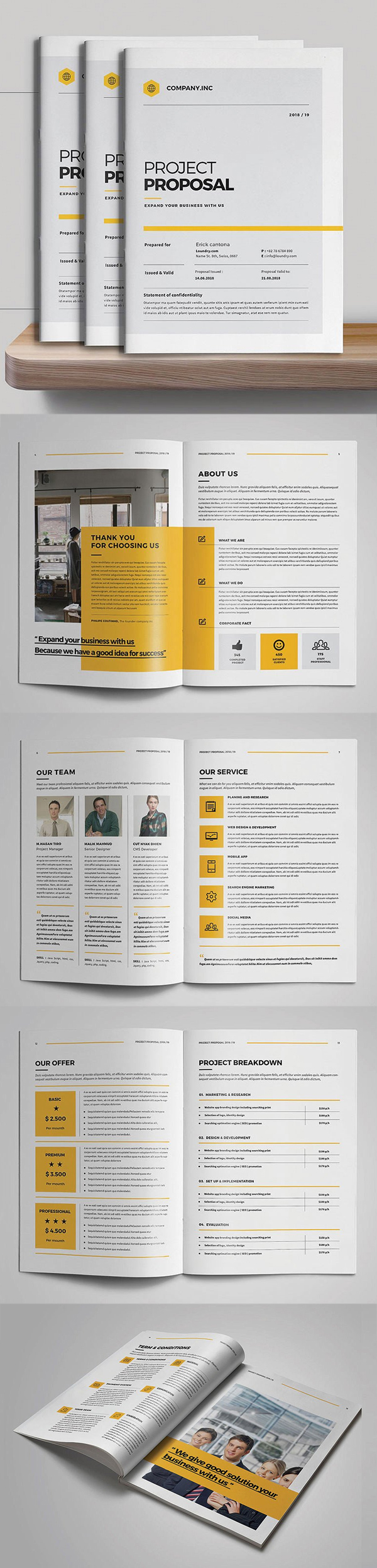 Business proposal templates design graphic design junction professional business proposal templates design 13 wajeb Images