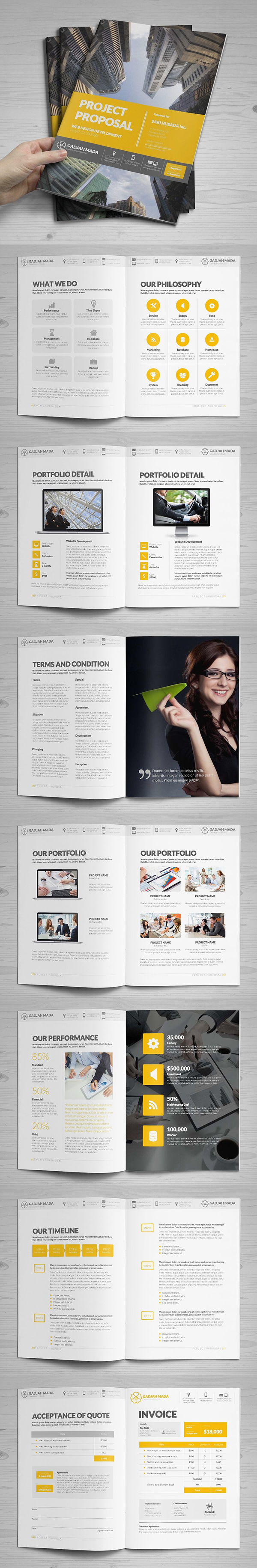 Business proposal templates design graphic design junction professional business proposal templates design 14 wajeb Images
