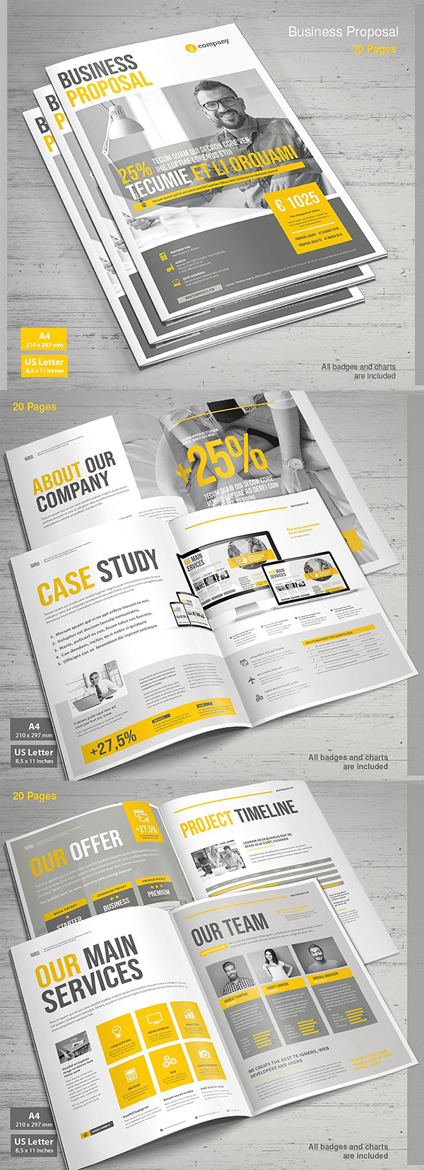 Business proposal templates design graphic design junction professional business proposal templates design 15 accmission Choice Image