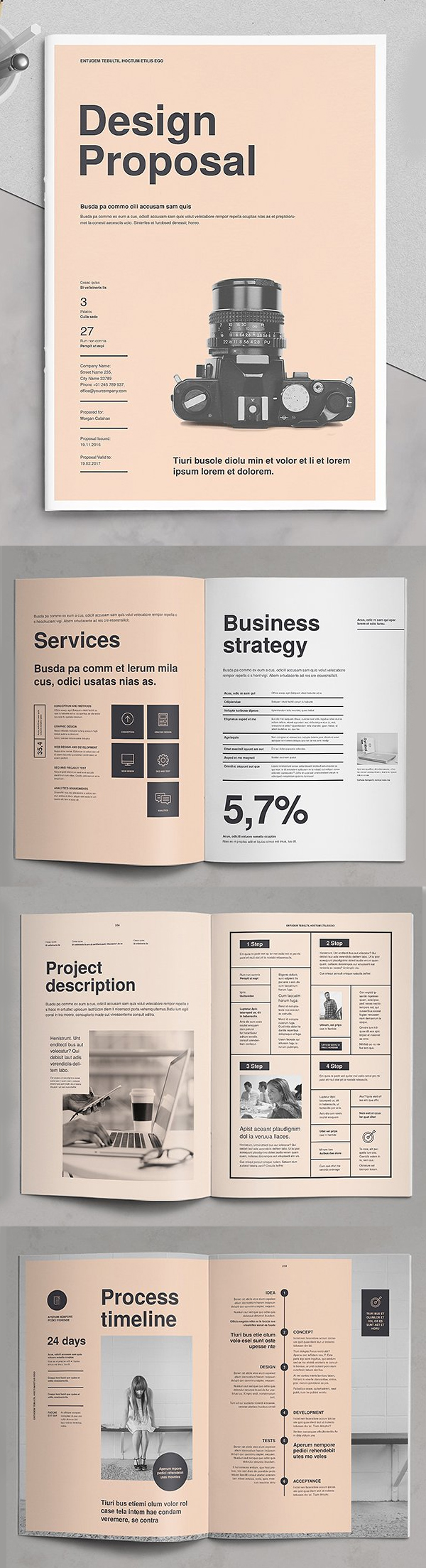 Business Proposal Templates Design Graphic Junction