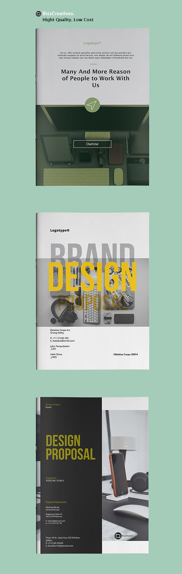 100 Professional Corporate Brochure Templates - 82