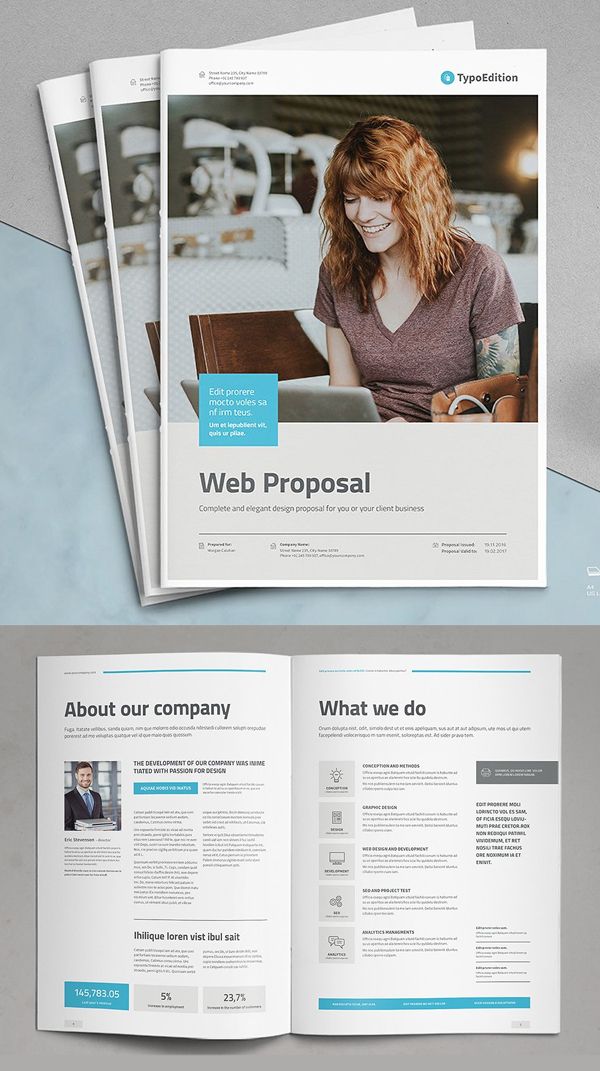 100 Professional Corporate Brochure Templates - 83