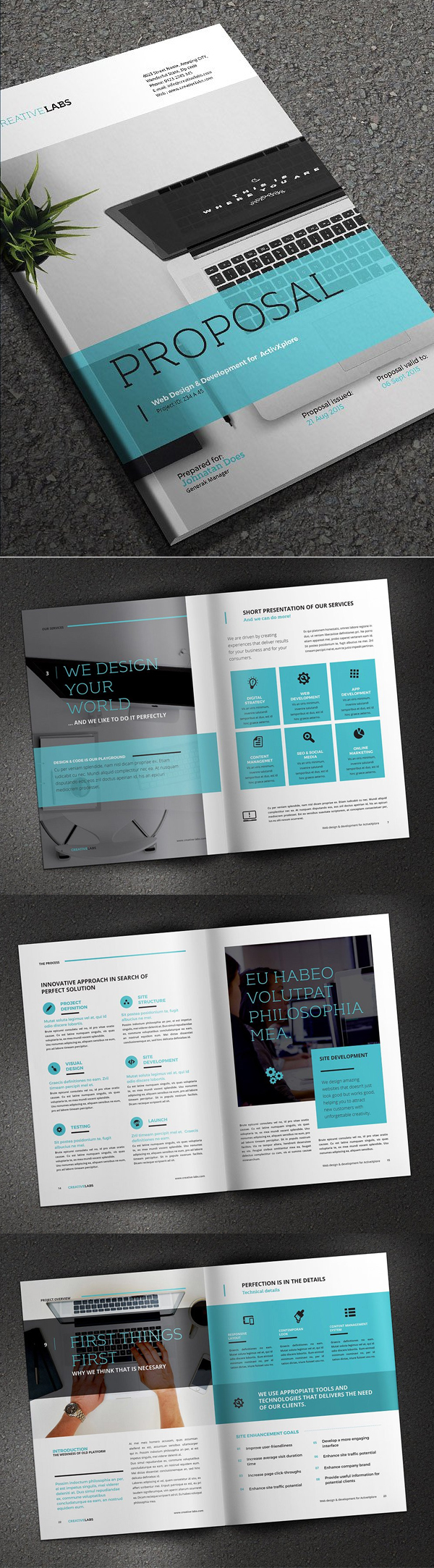 100 Professional Corporate Brochure Templates - 84