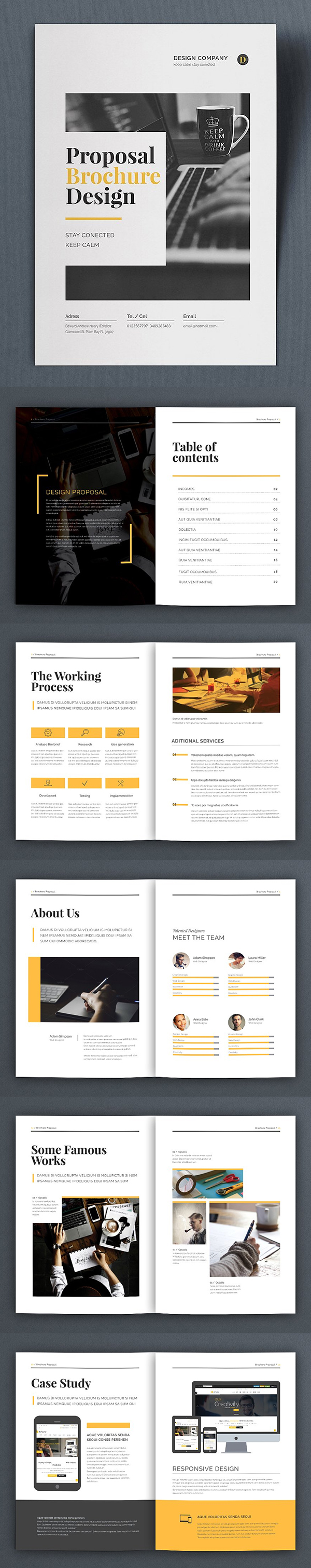 100 Professional Corporate Brochure Templates - 86